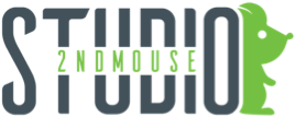 2nd Mouse Venture Inc, Gaming Studio  Sticky Logo